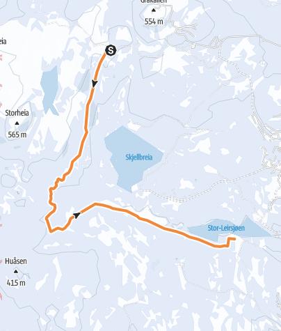 Map / Faunakartlegging - Linje 4 - Vintervasshøgda