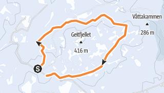 Karte / Faunakartlegging - Linje 1 - Geitfjellet