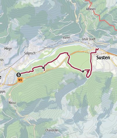 Karte / Pfynwald und Bhutan-Hängebrücke