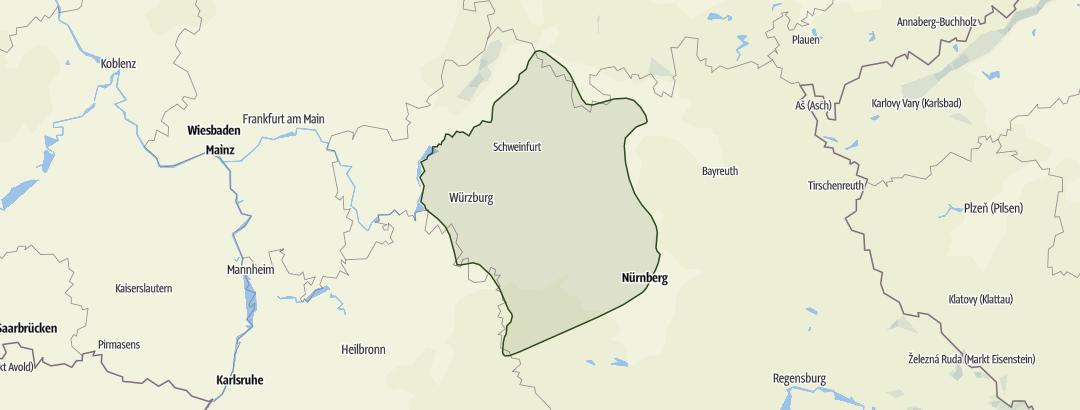Karte / Steigerwald