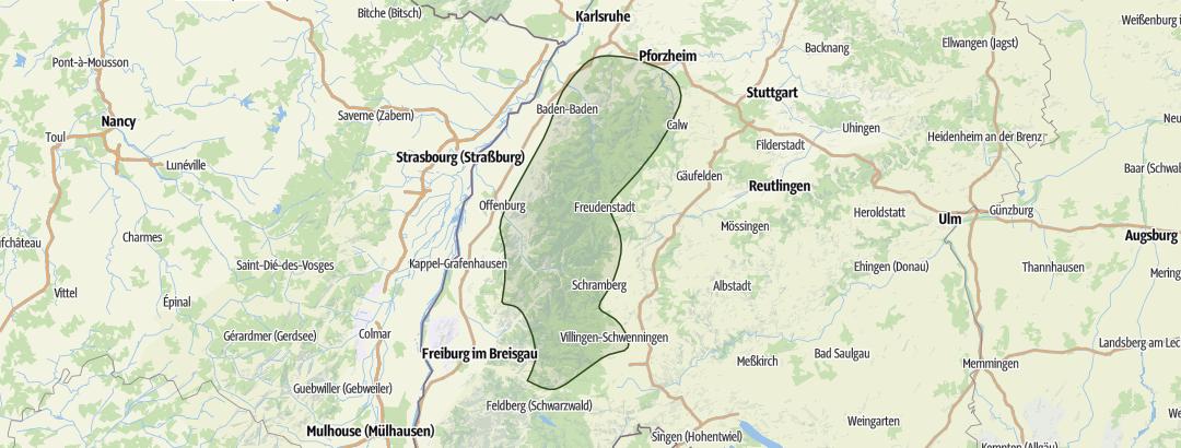Carte / Schwarzwald · Nord