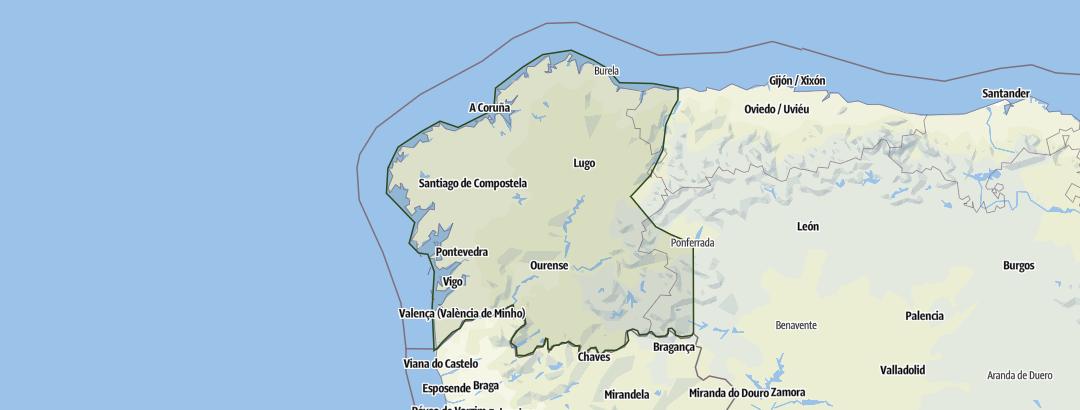 Karte / Galicien