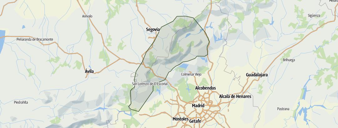 Karte / Sierra de Guadarrama
