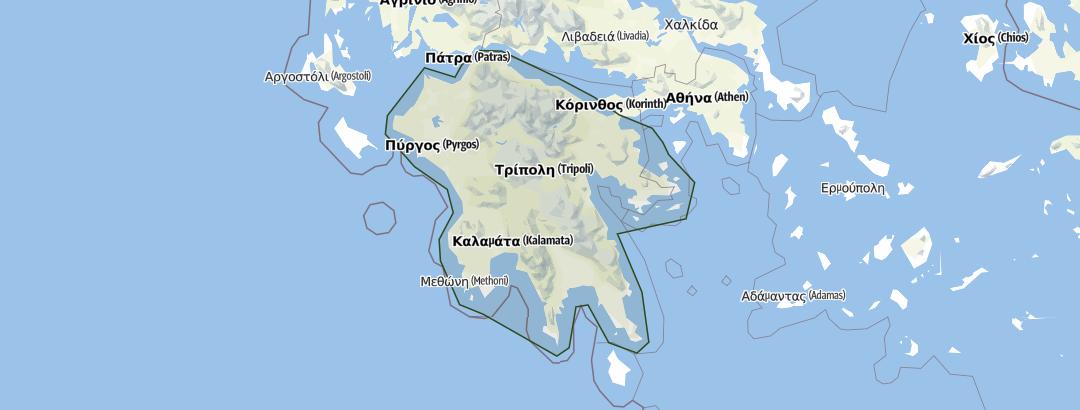 Karte / Peloponnes