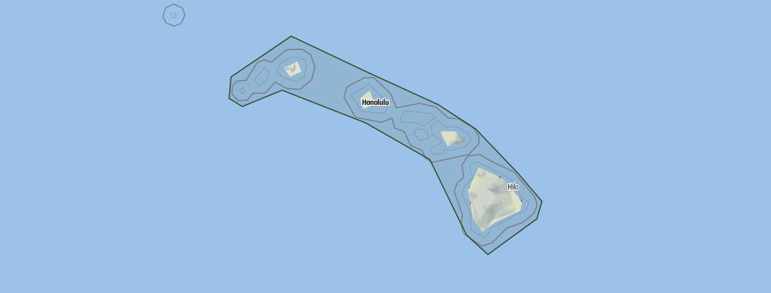 Karte / Hawaii