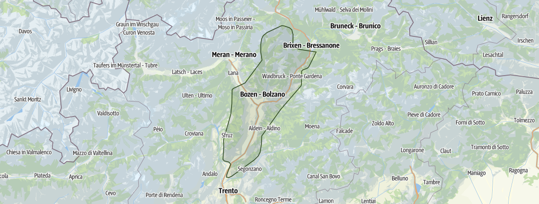 Karte / Bozen - Kaltern