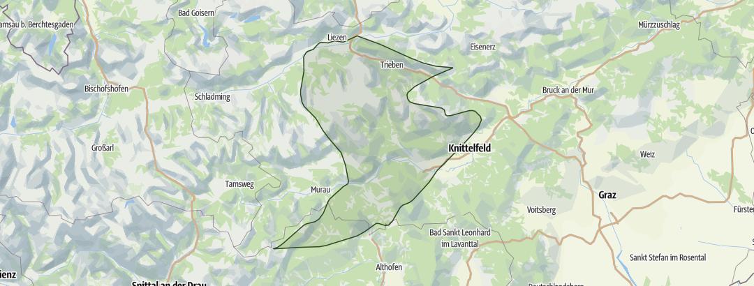 Karte / Niedere Tauern Ost – mit Murauer Bergen und Turracher Höhe
