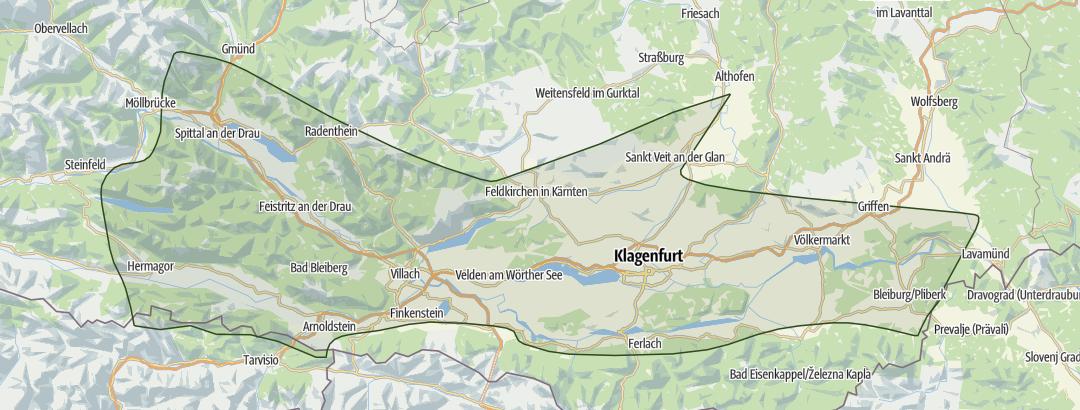 Karte / Kärntner Seen