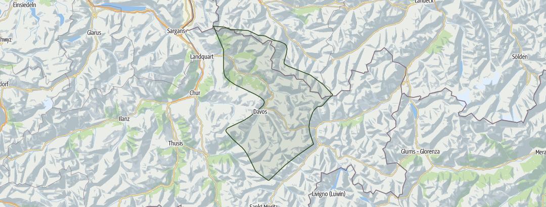 Karte / Davos – Prättigau