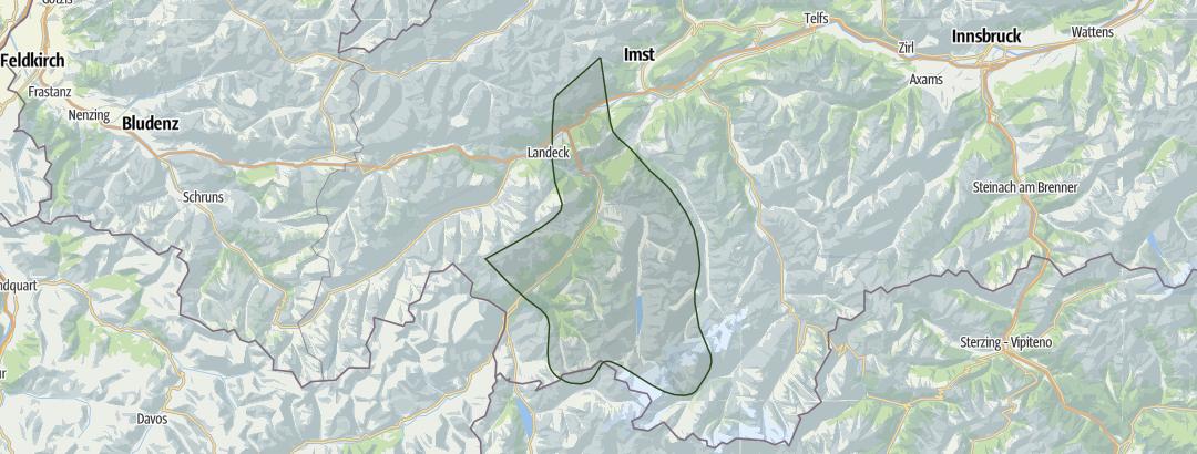Karte / Kaunertal – Oberinntal