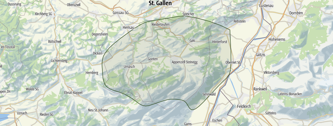 Mapa / Appenzellerland