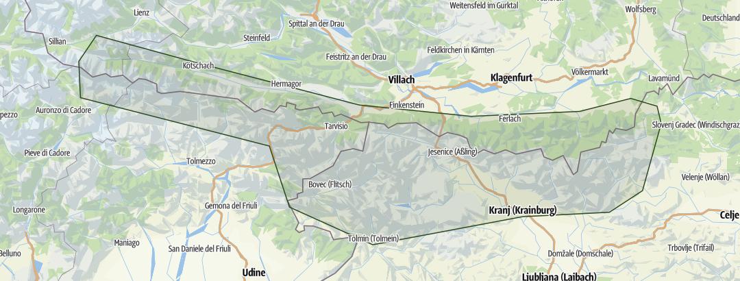 Karte / Klettersteige Julische Alpen