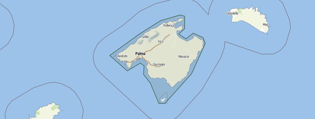 Karte / Mallorca – Wandern und Genießen