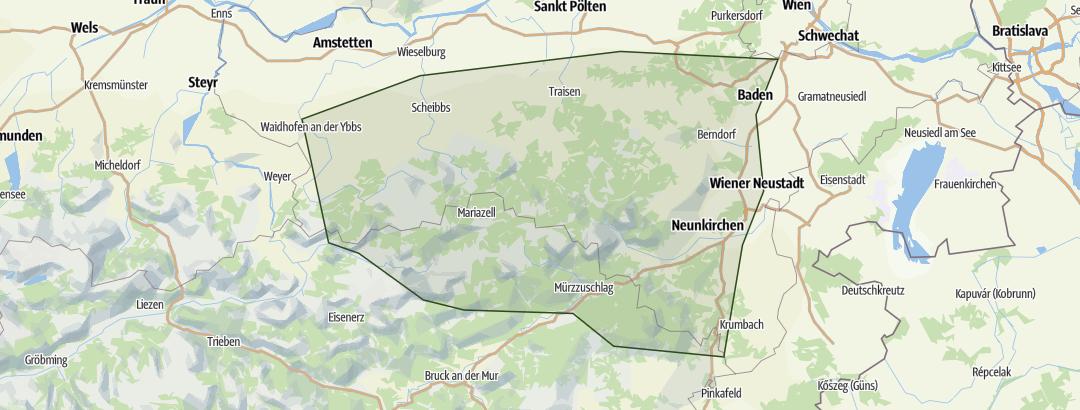 Mappa / Niederösterreich – Alm- und Hüttenwanderungen