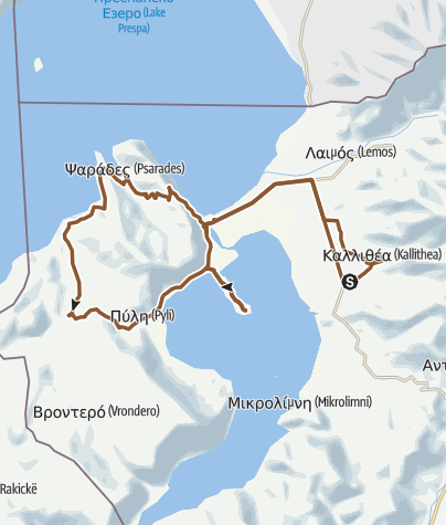 Kartta / Mala Prespa -Sv. Ahil