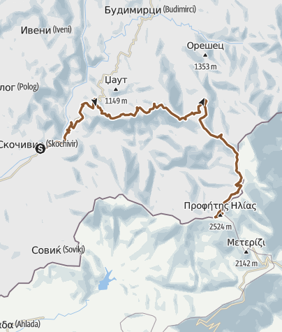 Kartta / Skočivir - Kajmakčalan