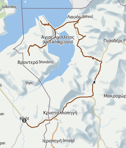 Kartta / Sv. Ahil, Prespa