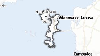 Kartta / A Illa de Arousa
