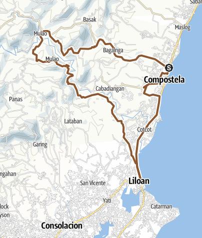 Hartă / Mulao Liloan - Mulao Compostela