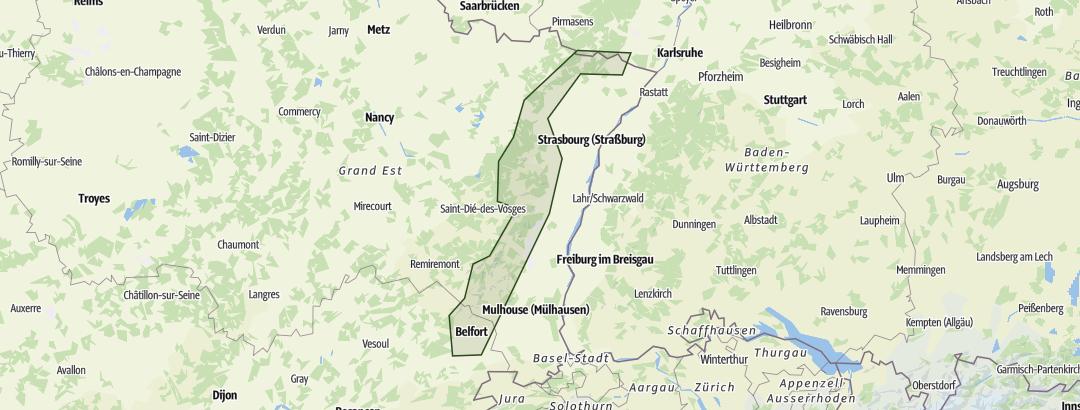 Karte / Vogesen-Durchquerung