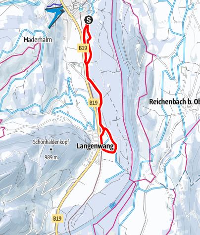 Karte / Weidacher Loipe - Langlaufen in Fischen