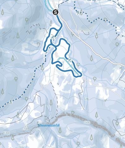 Map / Vordere Scheuenloipe (mittel) - Langlaufen in Balderschwang
