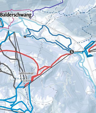 Map / Wäldleloipe - Langlaufen in Balderschwang
