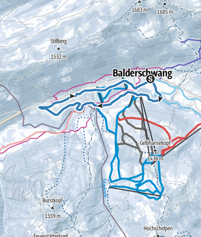 Karte / Gschwendloipe - Langlaufen in Balderschwang