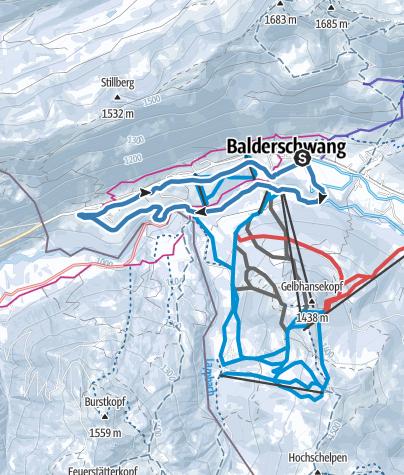 Karte / Gschwend Loipe - Langlaufen in Balderschwang