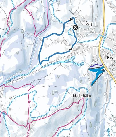 Karte / Berger Loipe - Langlaufen in Fischen