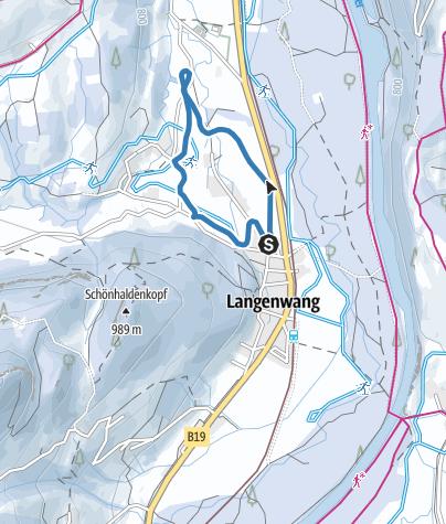 Karte / Langenwanger Loipe - Langlaufen in Fischen
