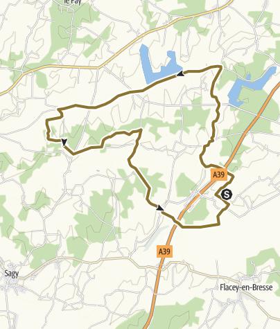 Map / Boucle empruntant la voie verte => Louhans