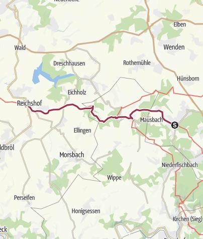 Karte / Pilgern von Freudenberg nach Denklingen