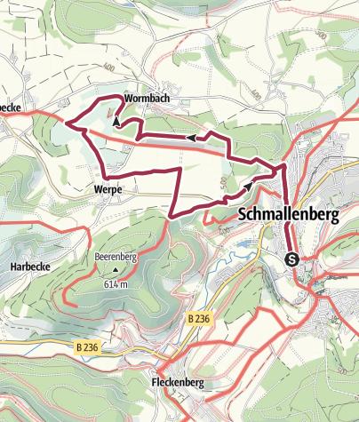Karte / Rundweg um Schmallenberg (S4)