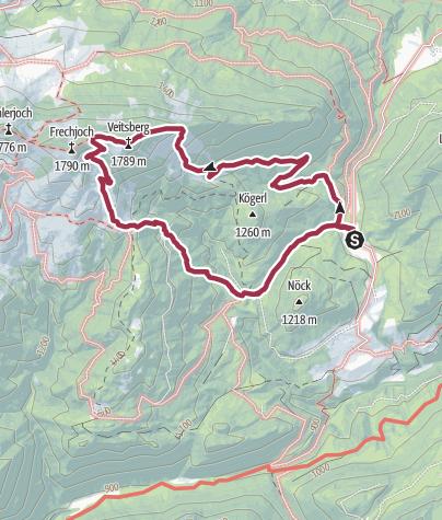 Karte / Veitsberg