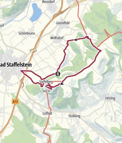 Karte / RW-Staffelberg-Vierzehnheiligen