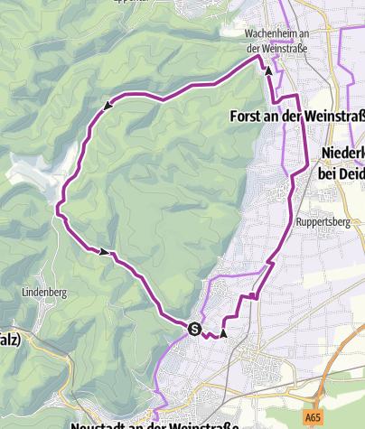 Hartă / Kurpfalzpark / Wein + Wald