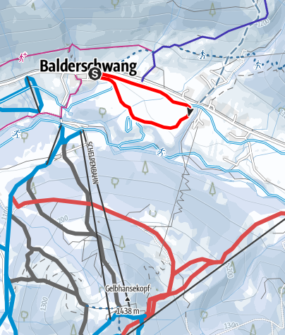 Karte / Dorfloipe - Langlaufen in Balderschwang