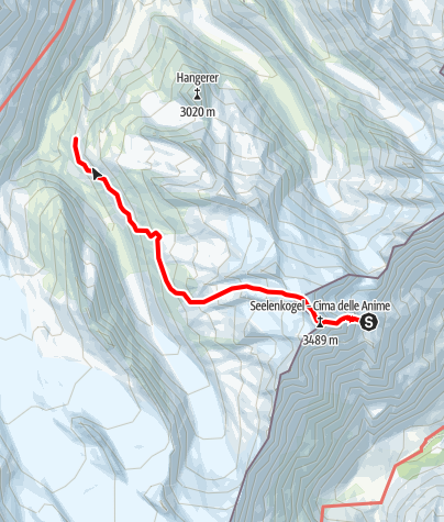 Karte / Obergurgler Hüttenrunde - Etappe 2: Zwickauer Hütte - Langtalereckhütte