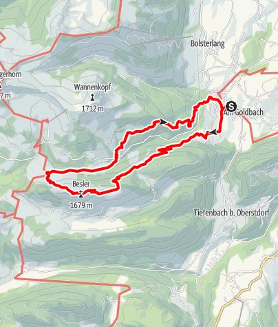 Karte / Der Königsweg - Alpwanderung von Obermaiselstein zum Besler