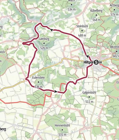 Karte / Zwischen Hiltpoltstein und Großenohe