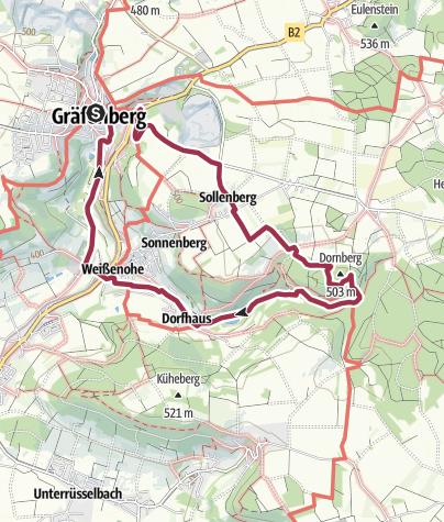 Karte / Zu den Sinterterrassen im Lillachtal