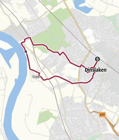 Karte / Auf der Rotbachroute bei Dinslaken