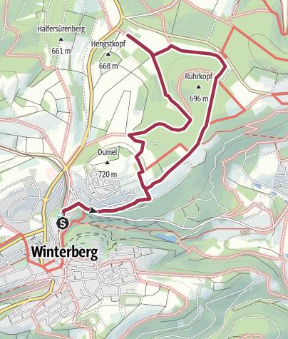 Karte / Auf dem Jakobsweg zur Ruhrquelle