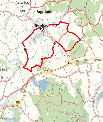 Karte / Argenbühl - Vorholzer Runde Nr. 4