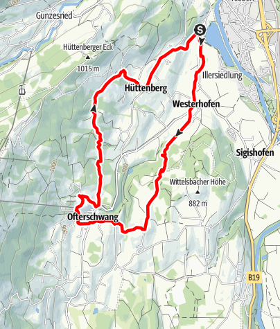 Karte / Nordic Walking Wald-Wiesen-Runde bei Ofterschwang