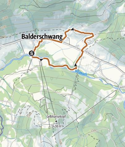 Karte / Socher Route - Nordic-Walking in Balderschwang