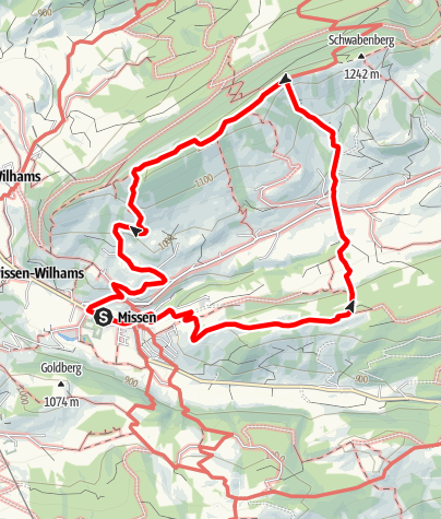 Karte / Missen-Kühberg-Börlas-Hauchenberg-Bockerstein-Berg-Missen