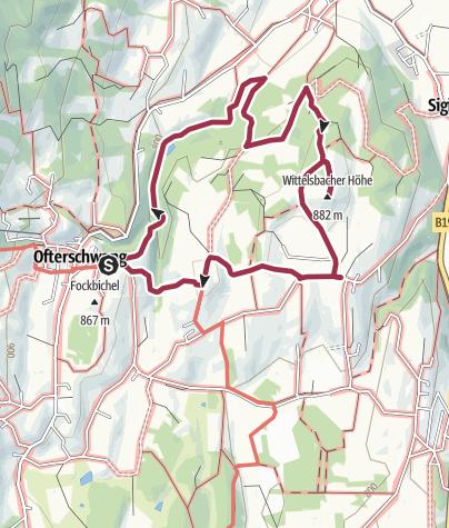 Map / Wittelsbacher hiking trail from Ofterschwang via Schweineberg