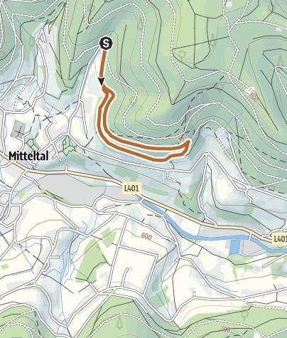 Karte / Fuchslochtour in Mitteltal im Schwarzwald
